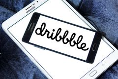 Dribbble online community logo Royalty Free Stock Photos