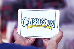 Capri Sun juice drink company logo. Logo of drinks company Capri Sun on samsung tablet.  Capri Sun is a brand of juice concentrate drink owned by the German Royalty Free Stock Images