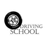 Logo driving school Stock Image