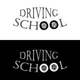 Logo driving school Stock Images