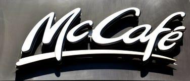 Logo du café de McDonald Photos libres de droits