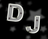 Logo du DJ Images stock