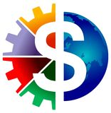 Logo du dollar Photos stock
