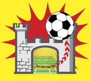 Logo du football illustration libre de droits