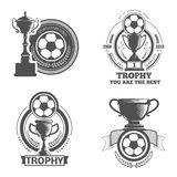 Logo du football Photographie stock