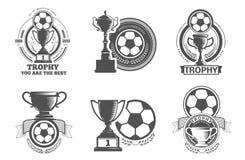Logo du football Photo stock