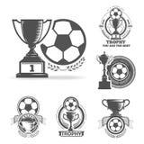 Logo du football Photos stock
