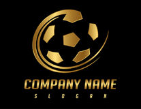 Logo du football Images stock
