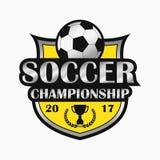 Logo du football Conceptions d'emblème de sports Vecteur Photo stock