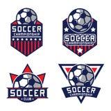 Logo du football, logo de l'Amérique Image libre de droits