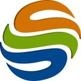 logo du globe 3D Images stock