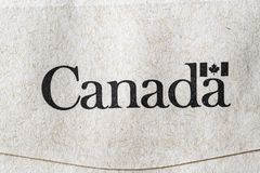 Logo du gouvernement canadien photo stock