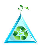 Logo du monde d'écologie dans le vecteur Photos libres de droits