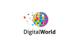 Logo du monde de Digital Illustration Stock