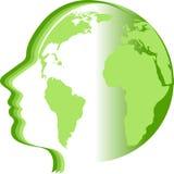 Logo du monde de visage illustration de vecteur