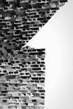 Logo du numéro un sur l'art de mur de briques Illustration Stock