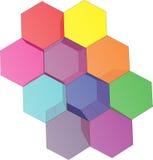 logo du puzzle 3d Image stock