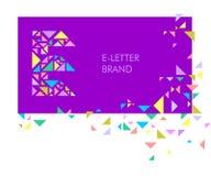 Logo E de lettre de triangle illustration de vecteur