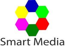 Logo e modello astuti di media Fotografia Stock Libera da Diritti