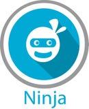 Logo e modello del fumetto di Ninja Fotografia Stock