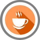 Logo e modello della tazza di caffè Fotografia Stock