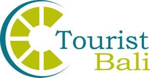 Logo e modello di Bali del turista Immagine Stock Libera da Diritti