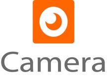 Logo e modello di immagine della macchina fotografica Fotografie Stock
