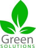 Logo e modello verdi della foglia Immagini Stock Libere da Diritti