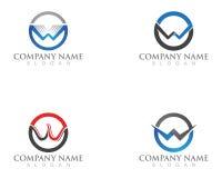 Logo e simboli di affari di logo di W Illustrazione Vettoriale