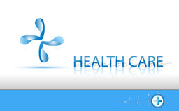 Logo e testo di sanità del fondo di vettore illustrazione di stock