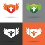 Logo e vettore dello schermo Fotografia Stock