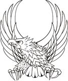 Logo eagle crest. Isolated eagle very useful for emblems, heraldry, or design complement, idividual objects very easy to edit Stock Photos