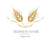 Logo with ear of wheat. Royalty Free Stock Image