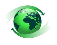 Logo earth globe Stock Image