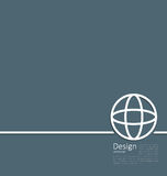 Logo of earth or globe, or network structure, minimal flat style Royalty Free Stock Images