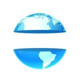 Logo Earth Planet con lo spazio della copia Fotografie Stock