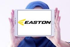 Easton Baseball brand logo. Logo of Easton Baseball on samsung tablet holded by arab muslim woman. Easton sells baseball bats, softball bats, ball gloves Stock Photo
