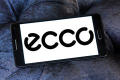 ECCO shoe manufacturer logo. Logo of ECCO shoe manufacturer on samsung mobile. ECCO Sko is a Danish shoe manufacturer and retailer Royalty Free Stock Images