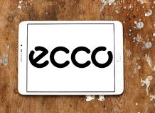 ECCO shoe manufacturer logo. Logo of ECCO shoe manufacturer on samsung tablet. ECCO Sko is a Danish shoe manufacturer and retailer Royalty Free Stock Photography