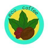 Logo eco coffee Stock Photography