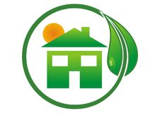 Logo eco house Royalty Free Stock Photo