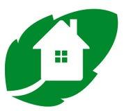 Logo eco house Stock Image