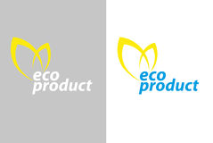 Logo eco product Royalty Free Stock Images