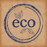 Logo eco products. Seals / stamps for packaging and design of organic products. Eps10 Vector. Food products packaging icons, organic natural eco and bio products vector illustration