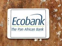 Ecobank Transnational logo. Logo of Ecobank on samsung tablet. Ecobank Transnational ETI, is a pan African banking conglomerate, with banking operations in 36 Stock Photo