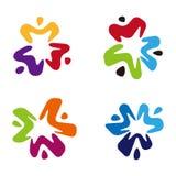 Logo ed icona sociali di relazione Immagine Stock