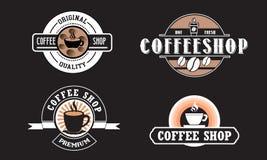 Logo editabile della caffetteria per l'affare royalty illustrazione gratis