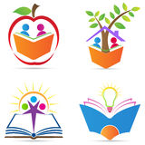 Logo for education. A vector drawing represents logo for education design stock illustration