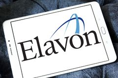 Elavon payment systems logo. Logo of Elavon payment company on samsung tablet. Elavon Inc., formerly NOVA, is a processor of credit card transactions and a Stock Photos