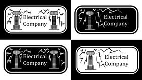 Logo for the electrical companies vector illustration
